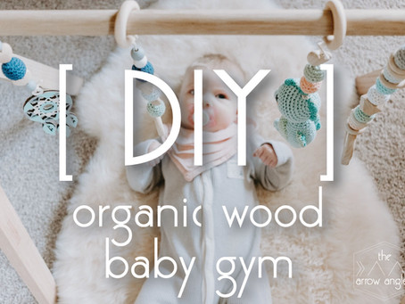 DIY organic wood baby gym