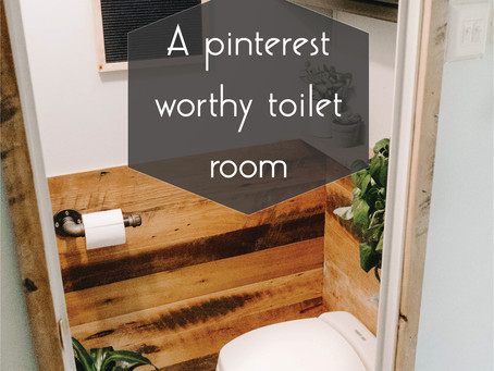 A Pinterest worthy toilet