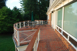Steel railing w/ SS cable & redwood