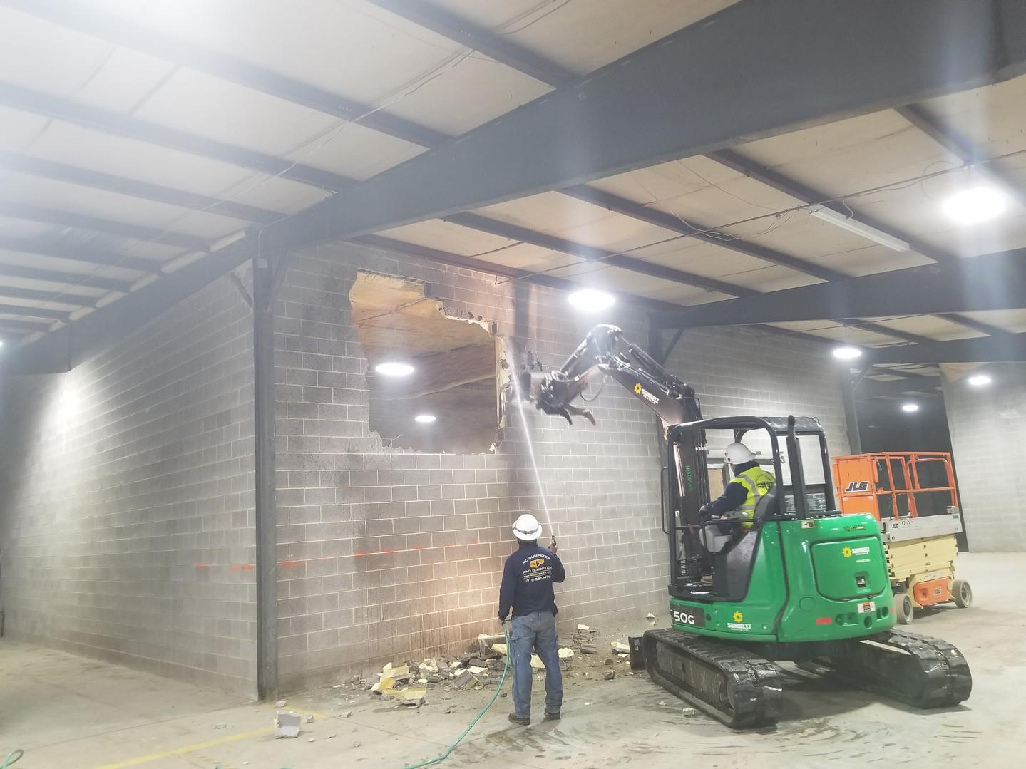 CMU Demolition in Upper Storage-1.8.2021