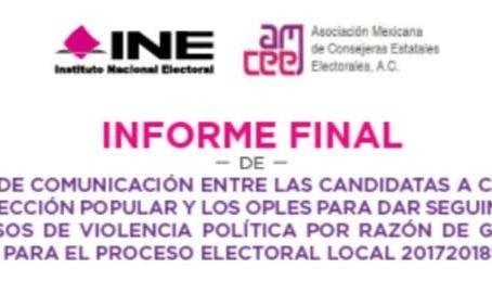 Radiografía de la Violencia Política por razón de género en los estados.