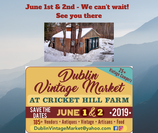 The Dublin Vintage Market - June 1st & 2nd!
