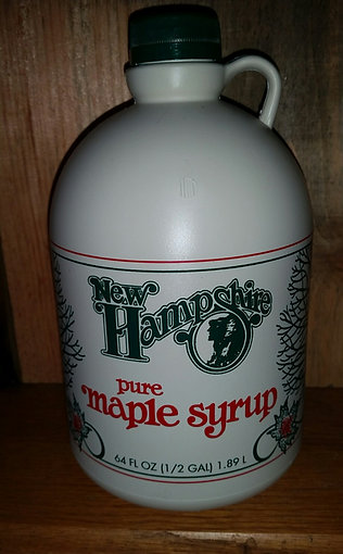1/2 Gallon 100% Pure NH Maple Syrup in plastic container