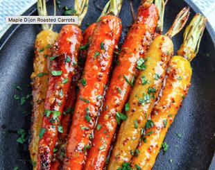 Easter Dinner side idea - Maple Dijon Roasted Carrots for Easter