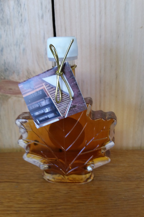 100 ML - 100% Pure NH Maple Syrup in a Glass Maple Leaf Bottle