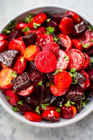 Maple Roasted Beets & Carrots
