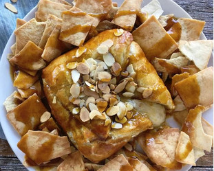 Baked Brie with Pumpkin Maple Sauce
