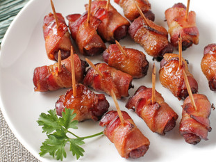 Maple Bacon Wrapped Smokies