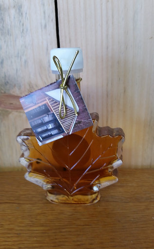 250 ML - 100% Pure NH Maple Syrup in a Glass Maple Leaf Bottle