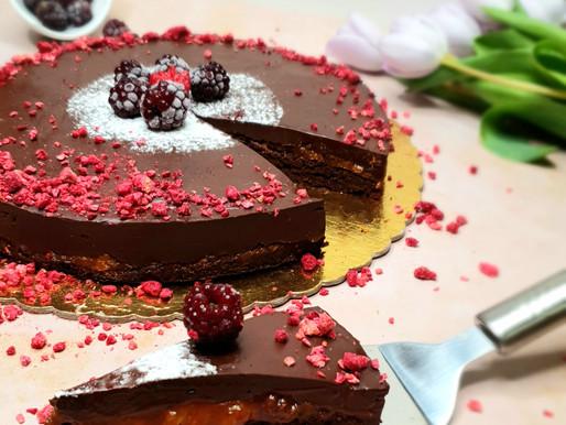Čokoládovo-marhuľový brownie