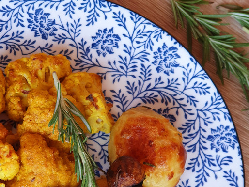 CURRY CAULIFLOWER WITH ROASTED POTATOES WITH ROSEMARY