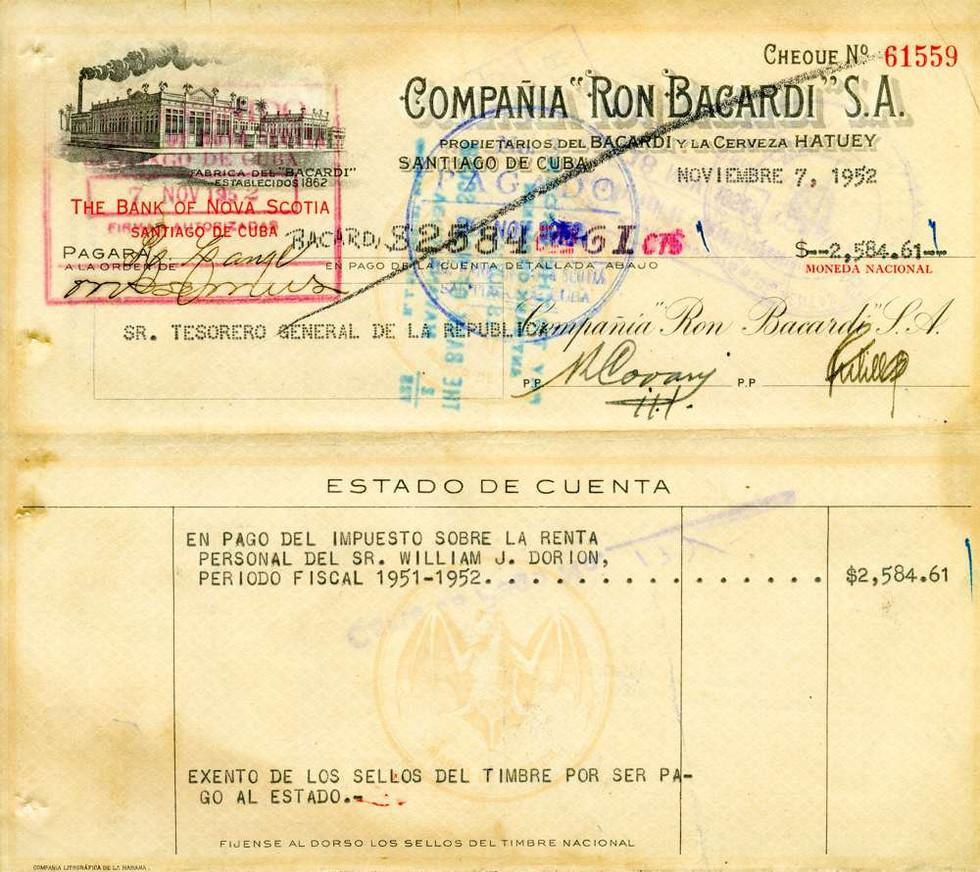 1952 Nov 7, Bacardi