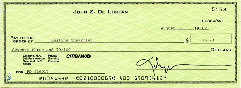 1982 Aug 16, John DeLorean