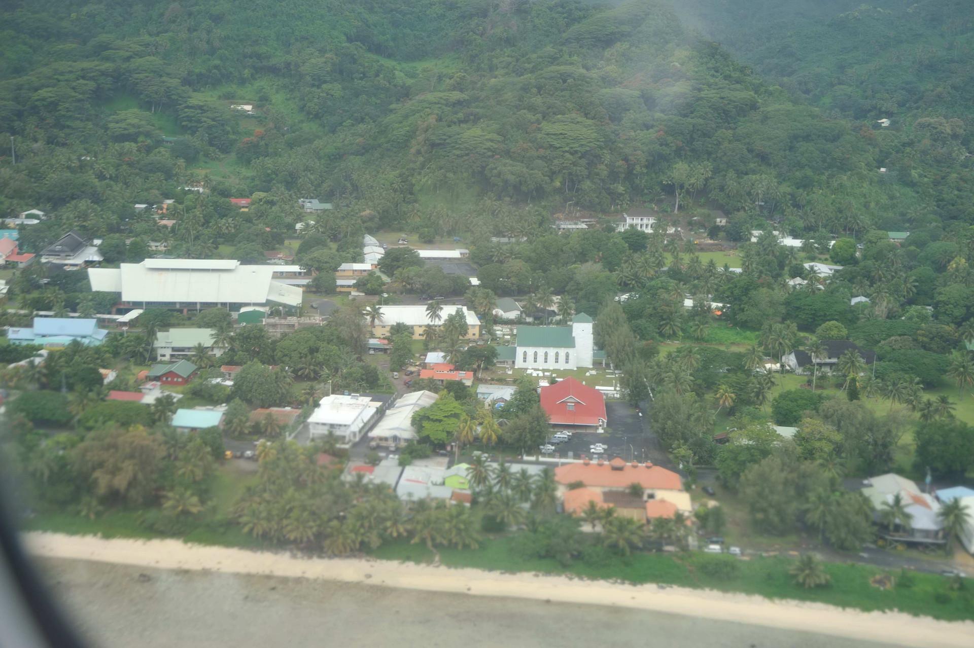 Cook Island Christian Church from the air