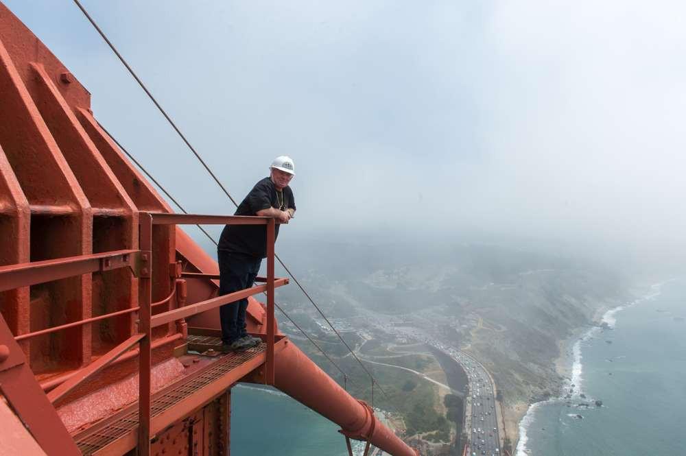 Top Of The Golden Gate Bridge