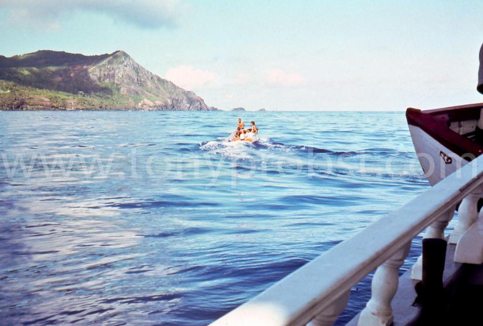1972 Romance Anchored off Pitcairn