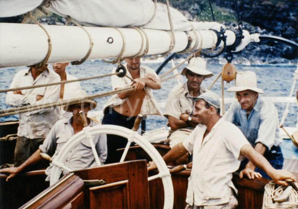 1957 Wilkes Young, Reynold Warren, Len Brown with beard. Warren Christian. Oscar Clark. Vernon Young