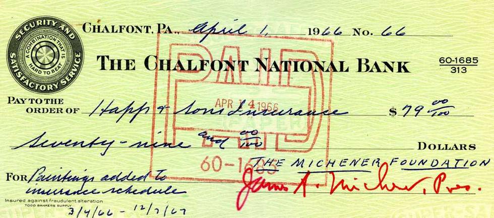 1966 April 1, James Michener