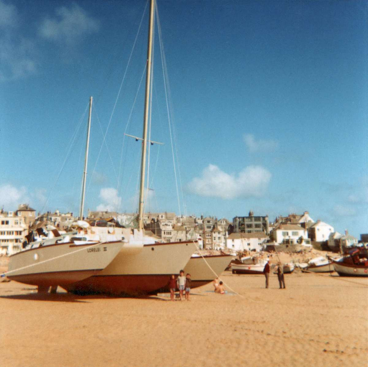 September 1st 1967, St Ives in Cornwall,  England our first stop on a trip around the world