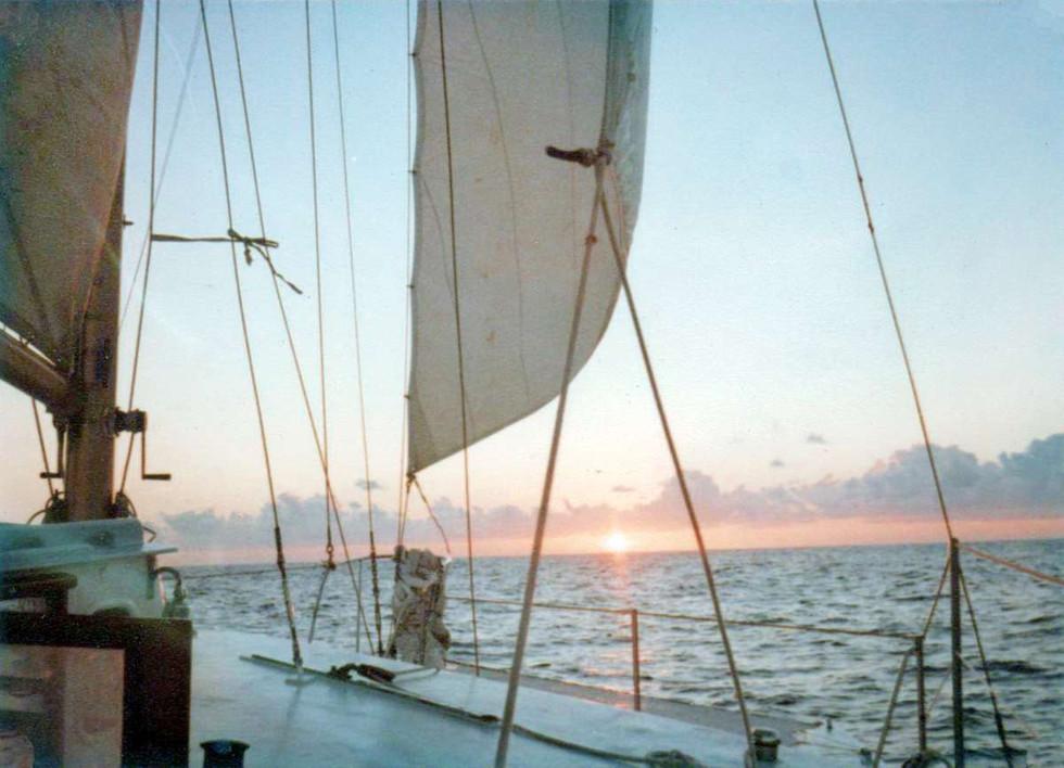 The last sunrise at sea