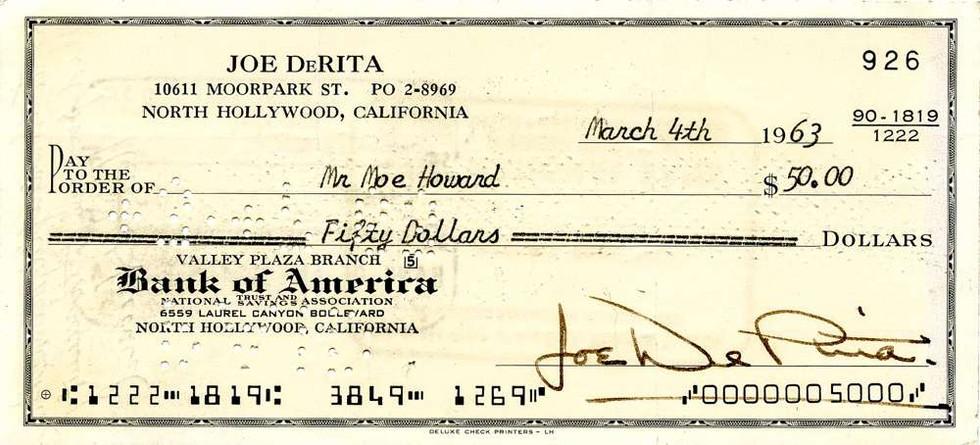 1963 March 4 Joe DeRita