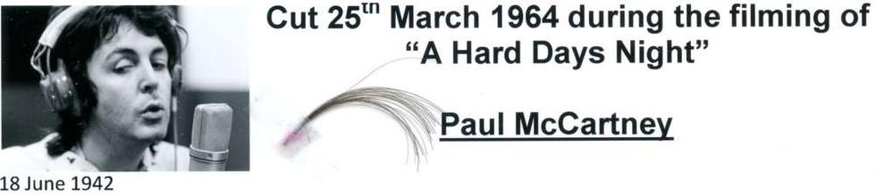 1964 Paul McCartney Hair