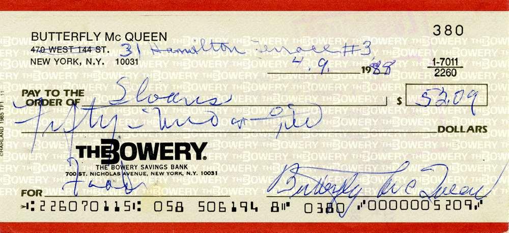 1988 April 9, Butterfly McQueen