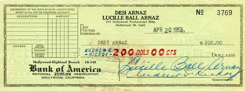 1953 April 20 Lucille Ball & Desi Arnez