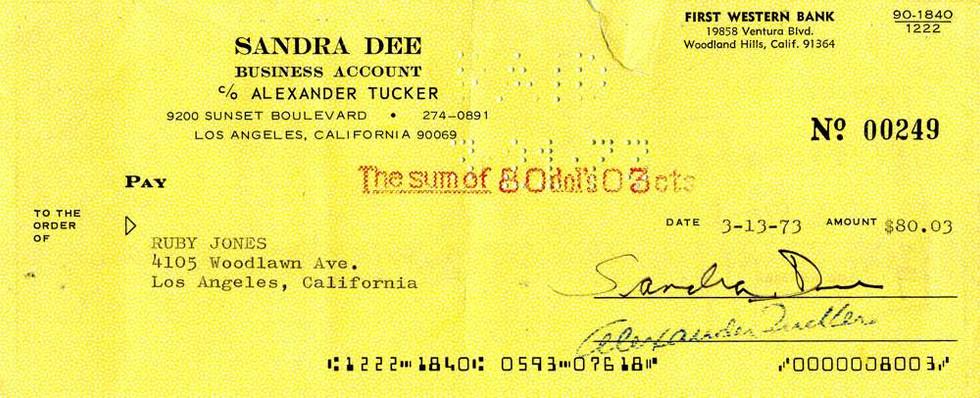 1973 March 13, Sandra Dee