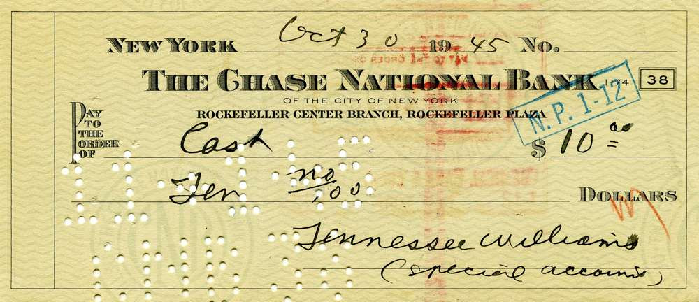1945 Oct 30, Tennassee Williams