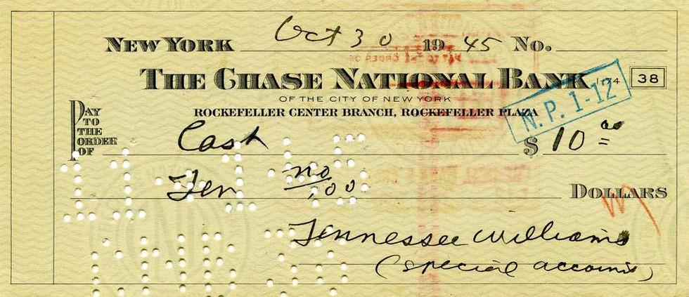 1945 Oct 30, Tennassee Williams