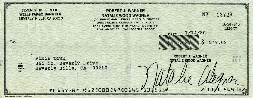 1980 July 14 Natalie Wood