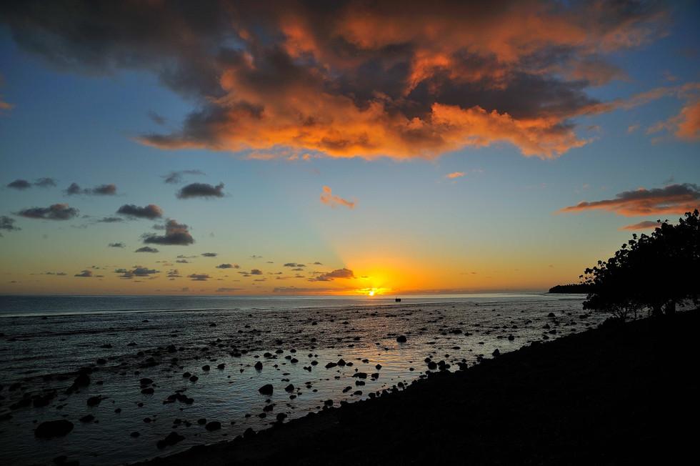 Sunrise on the north shore of Rarotonga