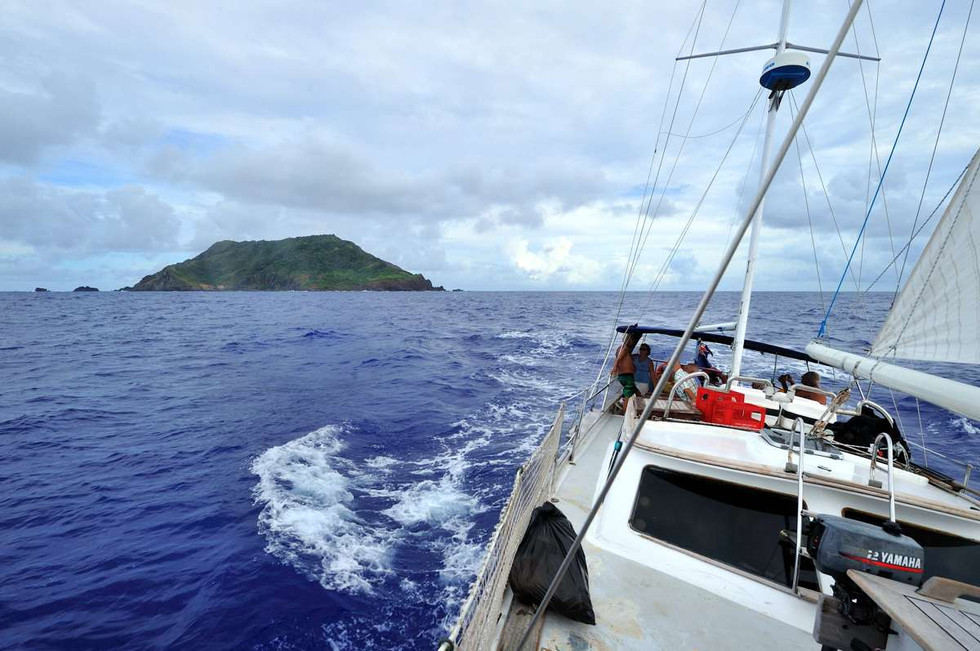 Pitcairn Island from the Soutern Cross