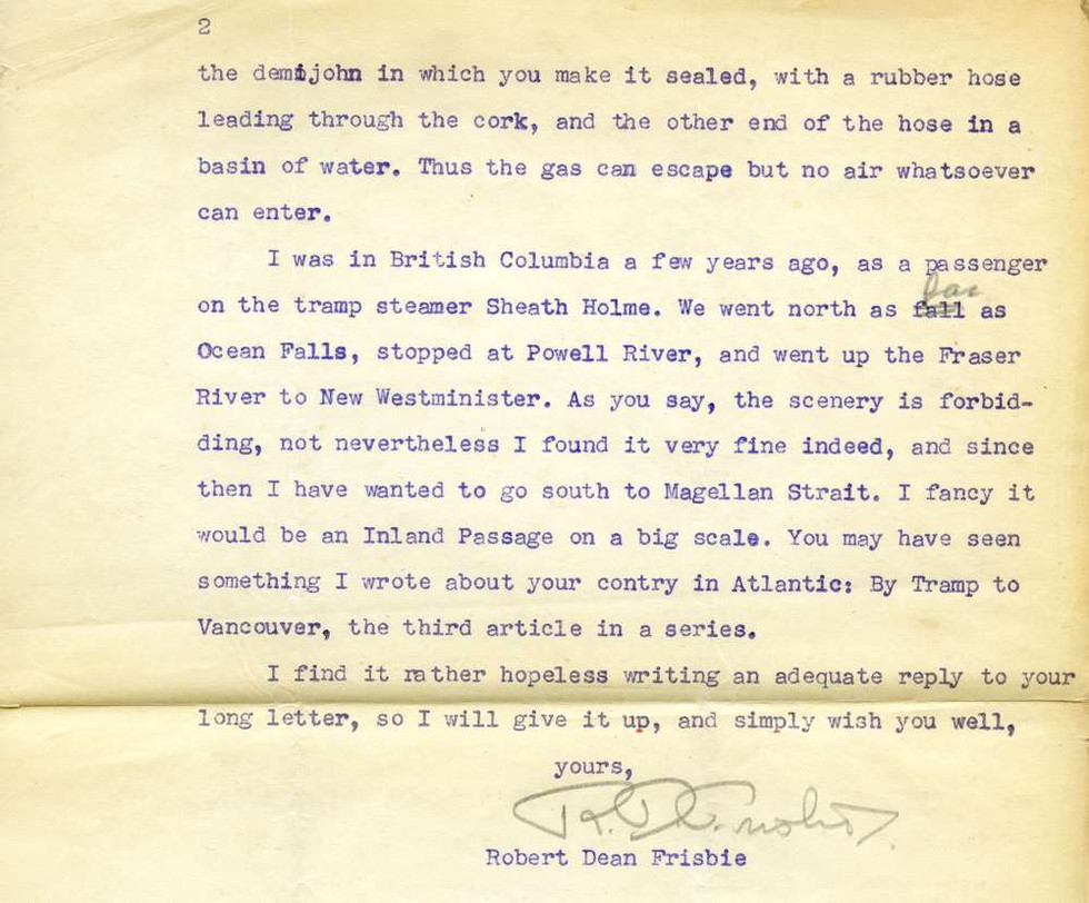 1941 August Robert Dean Frisbie