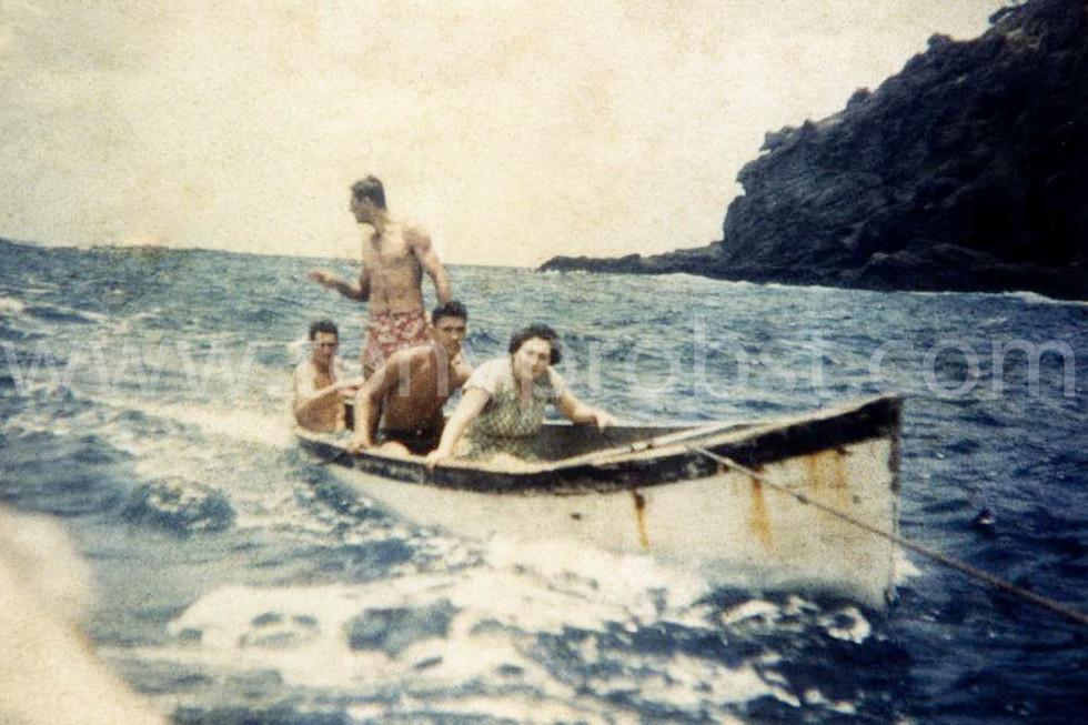 1957 Bow to Stern. Royal Warren, Tom Christian, Jim Jacobson, Len Brown