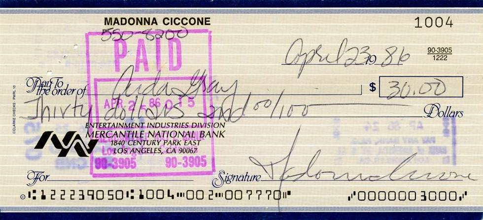 1986 April 23, Madonna
