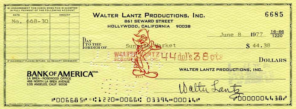 1977 June 8, Walter Lantz
