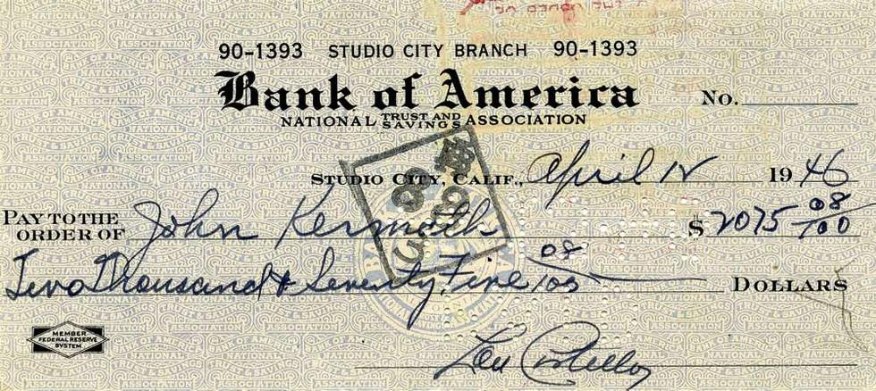 1946 April 12, Lou Costello