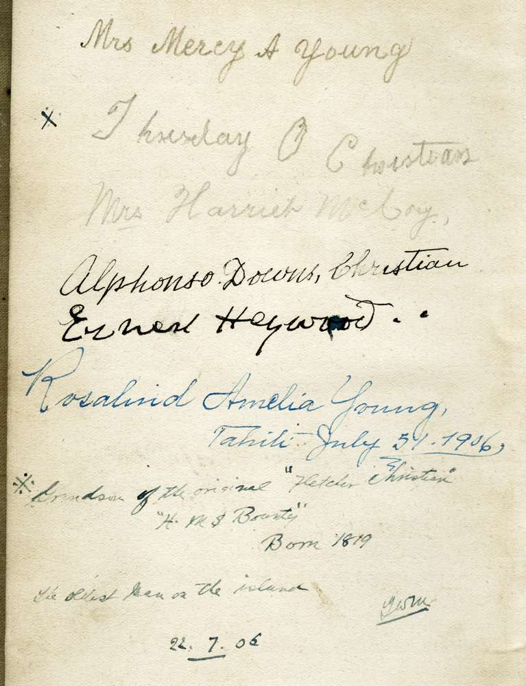 1906 July 22 Pitcairn Island
