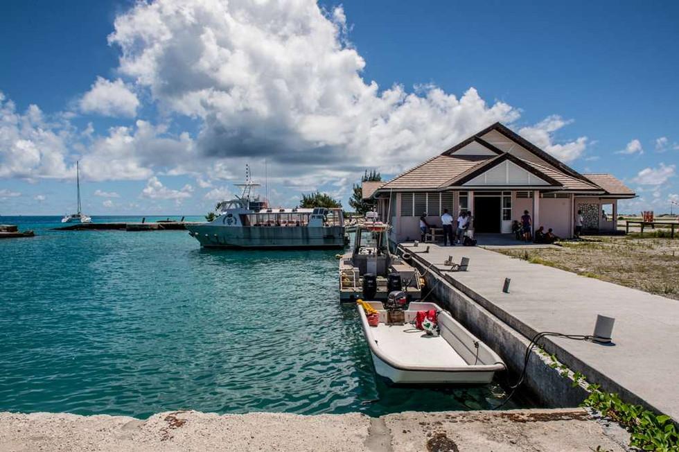 Ferry from Totegegie airport,Mangareva, Gambier Islands
