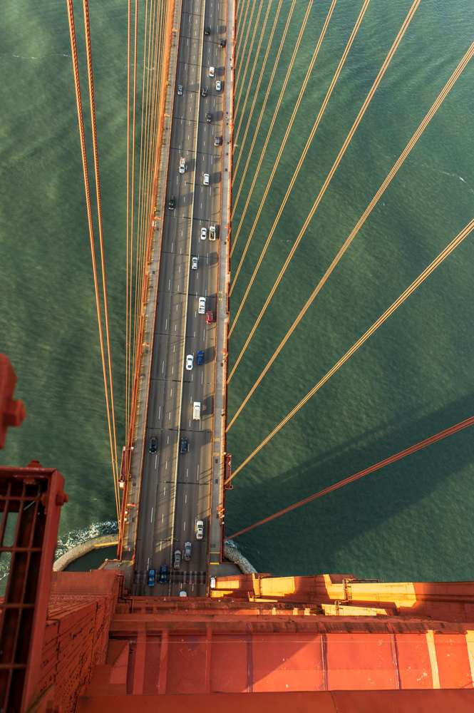From the top of the Golden Gate Bridge