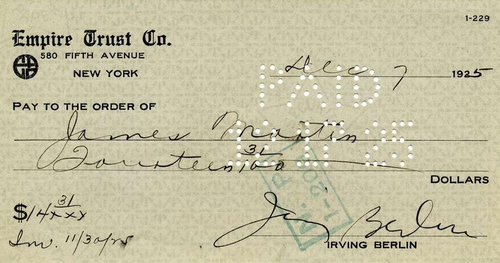 1925 Dec 7, Irving Berlin