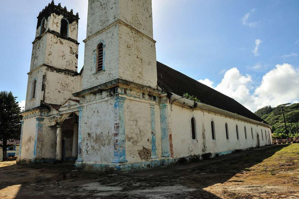 Cathedral of Rikitea before restoration