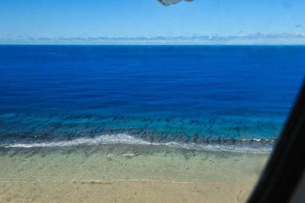 Landing at Tureia Atoll