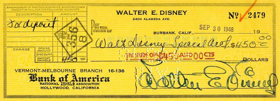 1948 Sept 30, Walt Disney