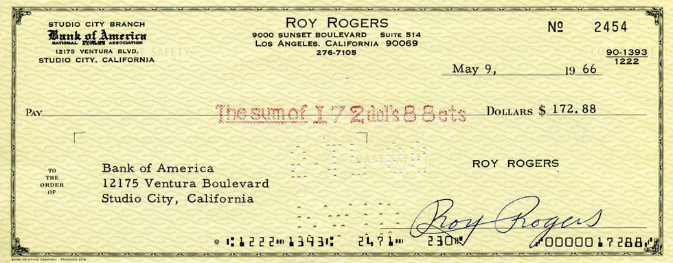 1966 May 9, Roy Rodgers