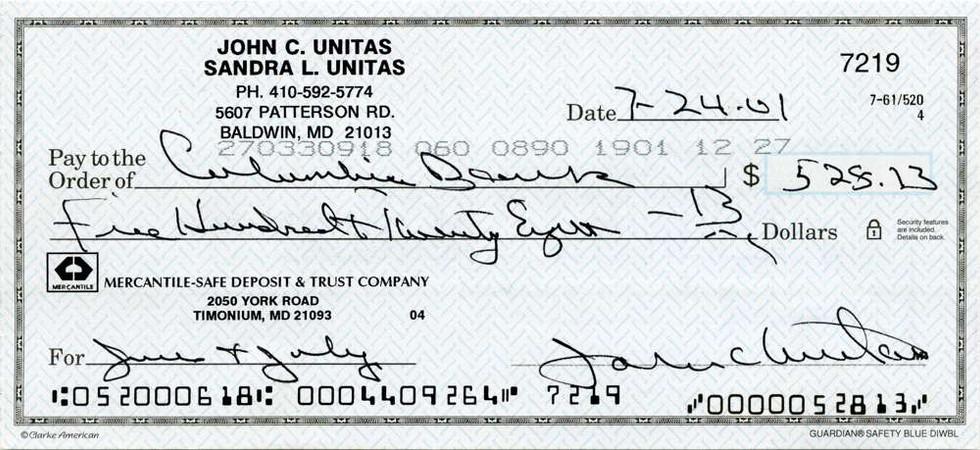 2001 July 24 Johnny Unitas