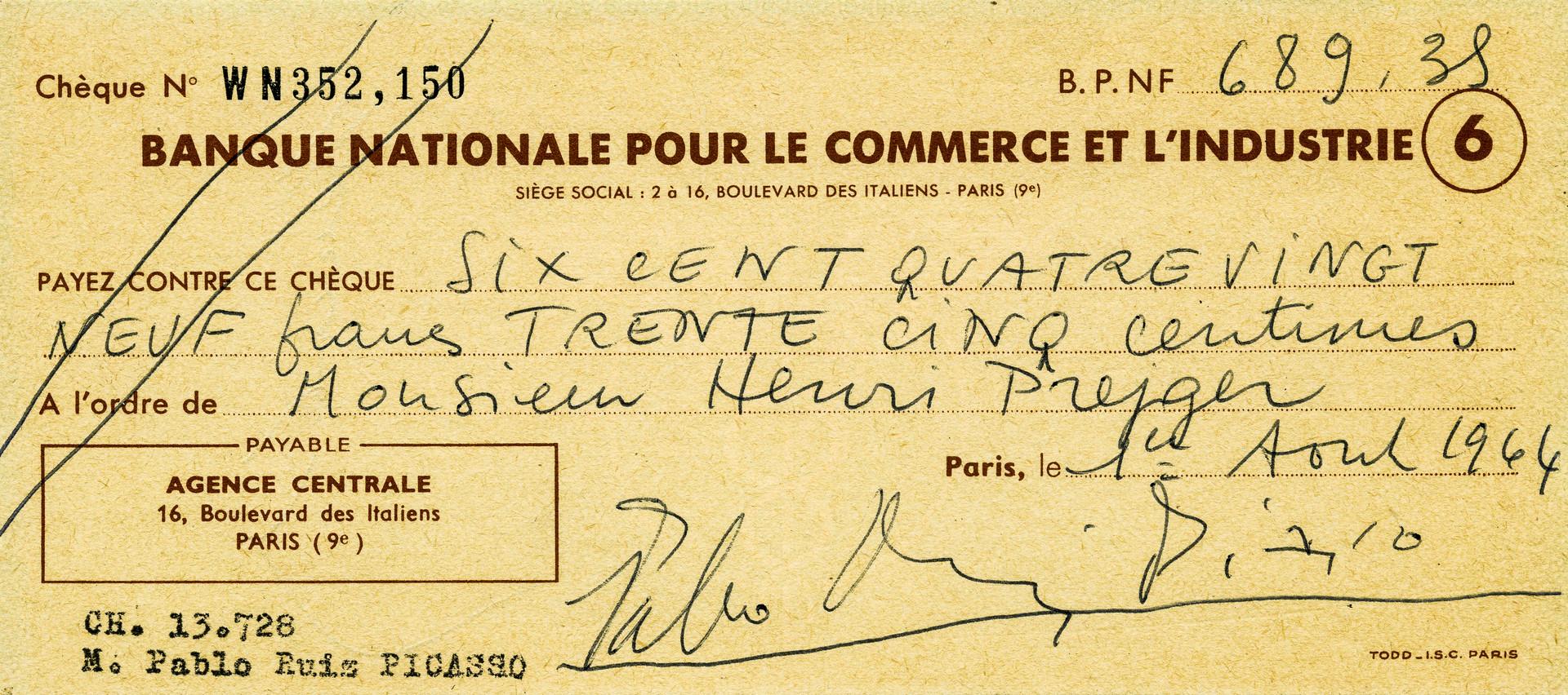 1964 Aug 1 Pablo Picasso