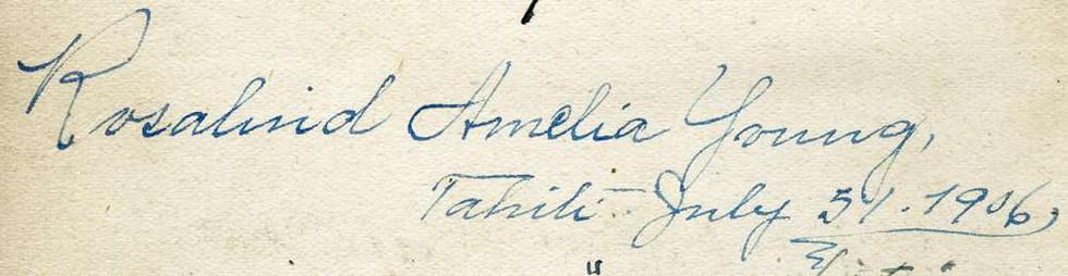1906 July 5 Pitcairn Island Rosalind Amelia Young